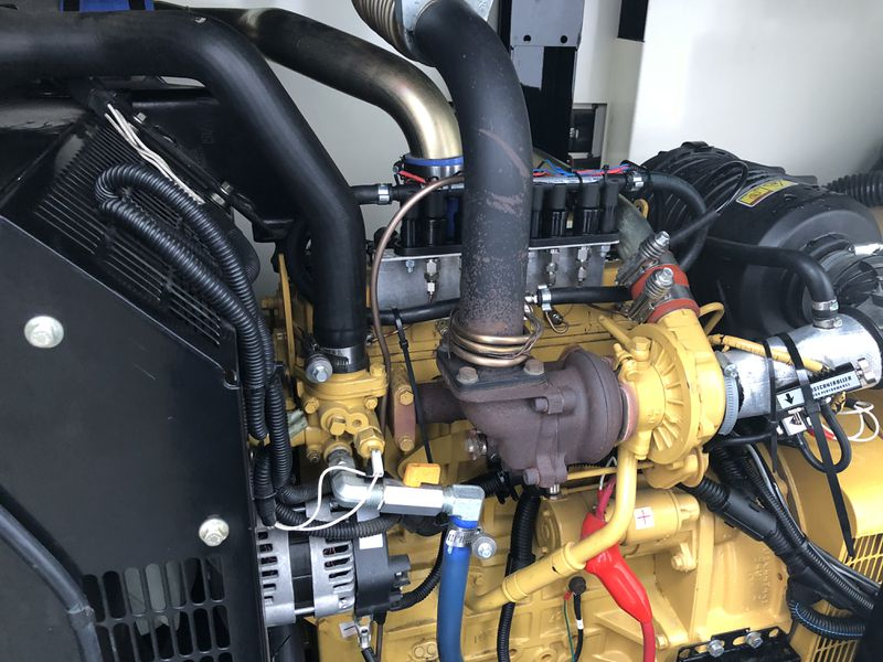 A stationary diesel generator with HyTech's hydrogen injectors installed.