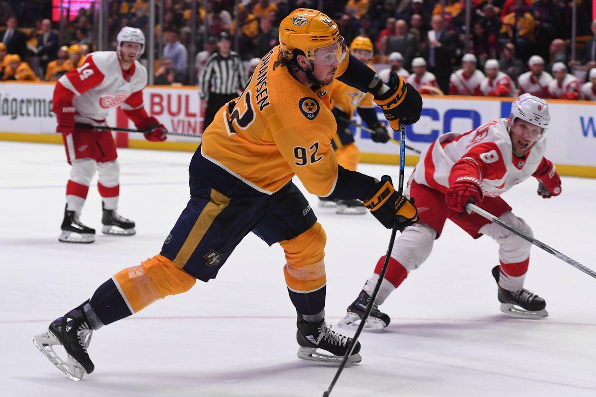 NHL: Detroit Red Wings at Nashville Predators