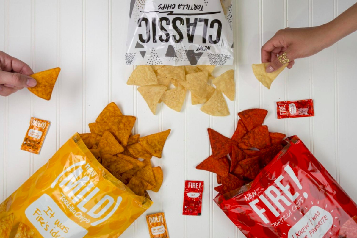 Bags of Taco Bell's new tortilla chips