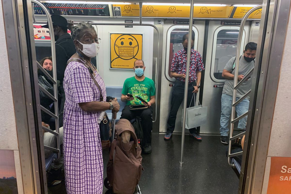 The MTA ran an ad campaign urging riders to wear masks, Sept. 10, 2020.