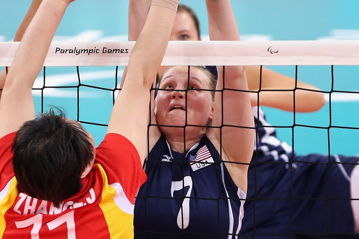 Monique Burkland is a sitting volleyball athlete who married her wife.
