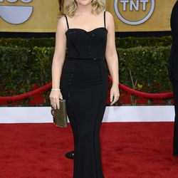 Tina Fey's bff Amy Poehler also wore black Oscar de la Renta.