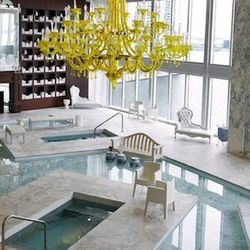 """<span class=""""credit"""">Image Via Viceroy Miami</span><p><b>The Spa at the Viceroy:</b> The Spa at the Viceroy boasts a 5,000-square-foot water lounge with a floating library, hot and cold plunge pools and a breath-taking view of the bay. Besides the gorgeou"""