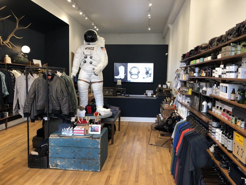 Cowboys and Astronauts is a modern men's lifestyle and supplies store with a curated blend of apparel, accessories, grooming products, travel supplies, home goods, and gifts. | Ji Suk Yi/Sun-Times