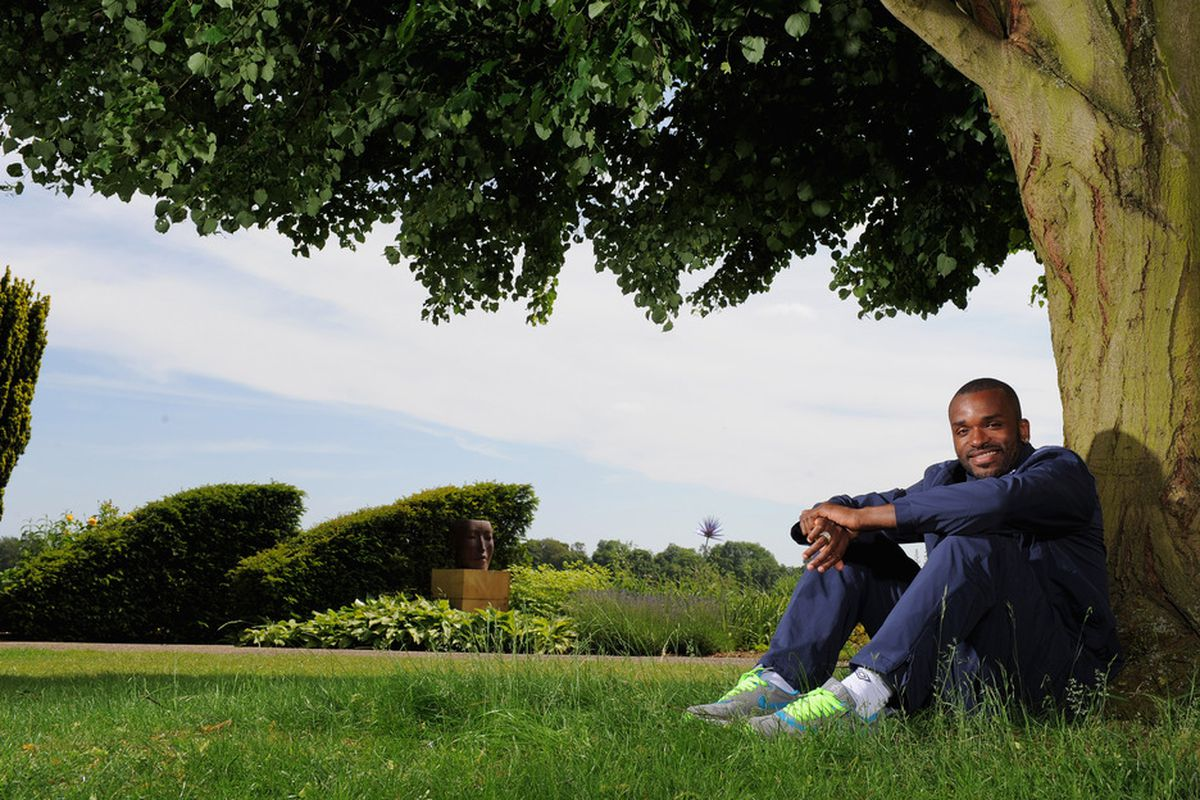 HERTFORD, ENGLAND - JUNE 01: Darren Bent poses for a picture during the England press conference at The Grove Hotel on June 1, 2011 in Hertford, England.  (Photo by Michael Regan/Getty Images)