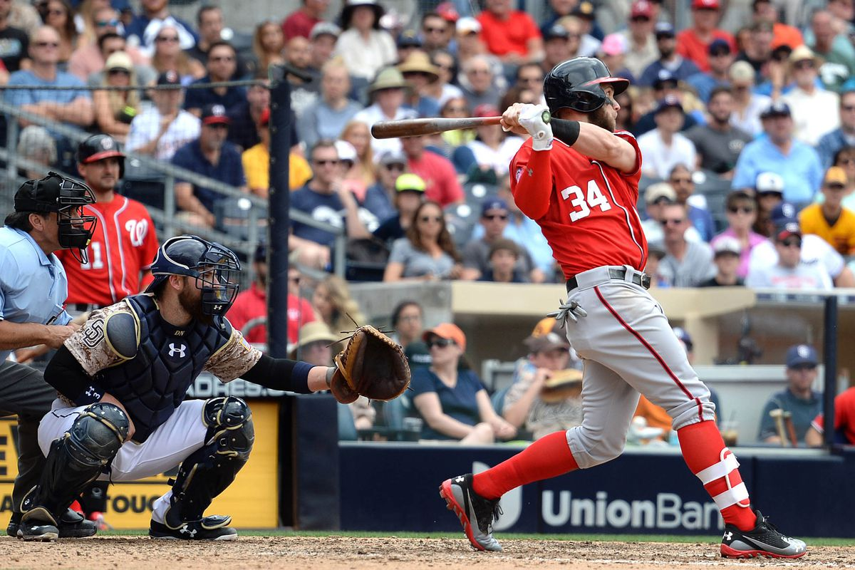 National pundits often talk about how Bryce Harper is immature.  My advice to them: Watch him take a plate appearance or two.