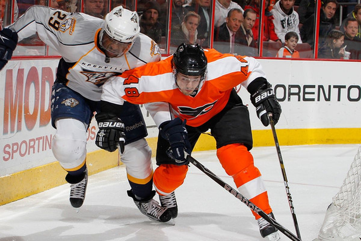 Danny Briere of the Philadelphia Flyers was a Springfield Falcon prior to the trade deadline in 2003. By the deadline, the Phoenix Coyotes traded him to the Buffalo Sabres where his career took off.