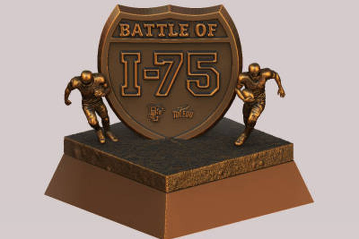 The Battle of I-75 trophy, which replaced the Peace Pipe as the rivalry's official trophy in 2011.