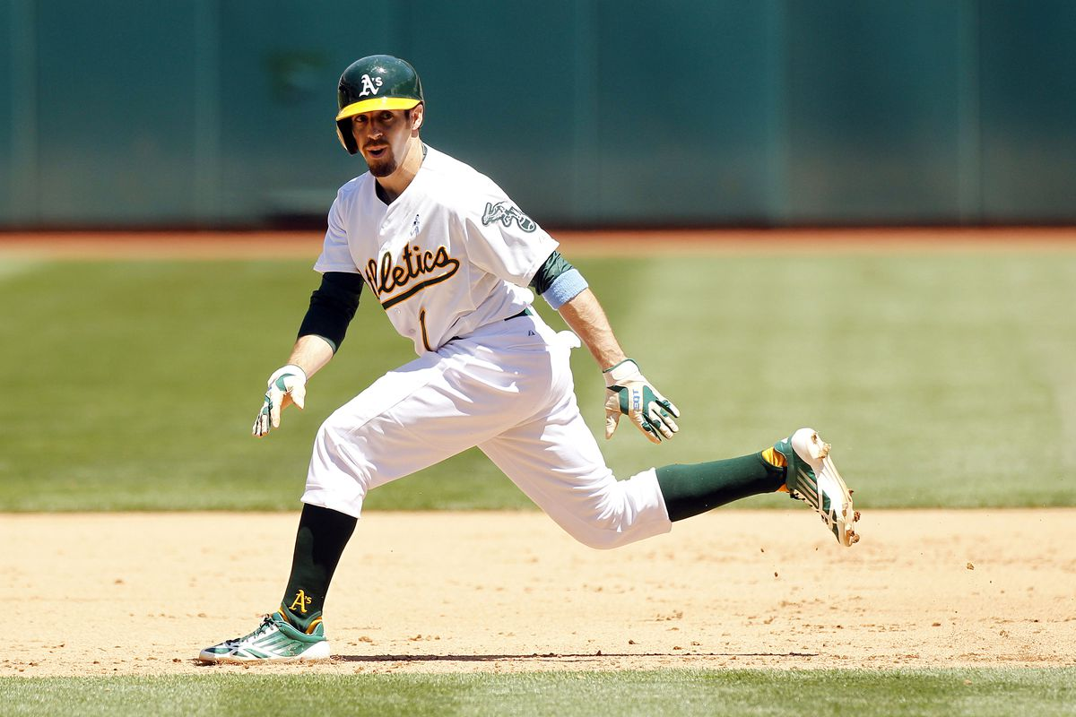 Billy Burns bounds about on the base paths.