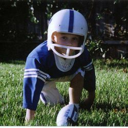 A young Daniel Sorensen caught the football bug early.