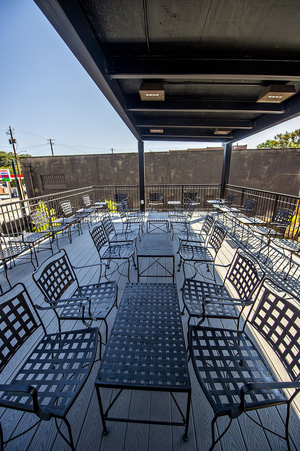 The rooftop patio at Cafe + Velo.