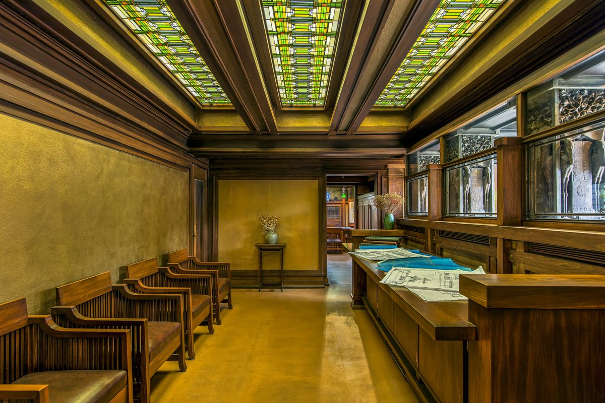 The Studio Reception Room Of Frank Lloyd Wright Home And In Oak Park Illinois Courtesy Trust Photographer James