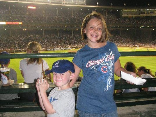 Grant Davis and Julia Davis, now 14- and 19-years-old, attended the Cubs peanut-free game in August, 2010 with their mother, Joyce Mason. Since then, the Cubs have not hosted another peanut-free game until this season on April 14 where there will be two s