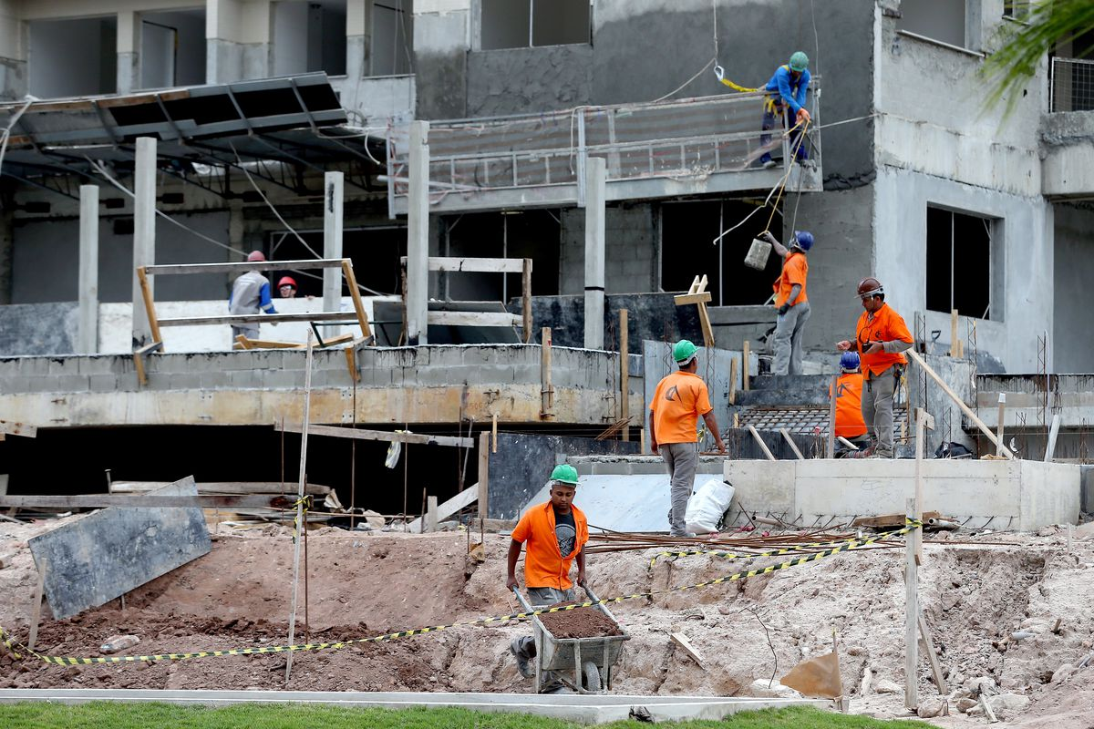 Athletes Village Construction in Progress Ahead of the Rio 2016 Olympic Games