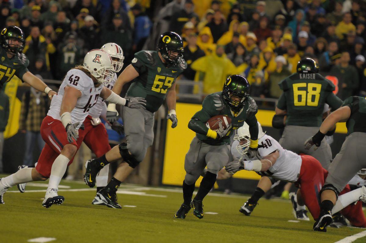 NCAA FOOTBALL: NOV 26 Arizona at Oregon