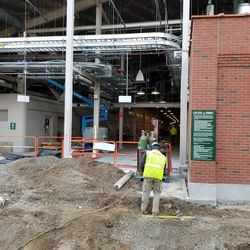 A peek inside the LF gate, and another view of the hole on Waveland