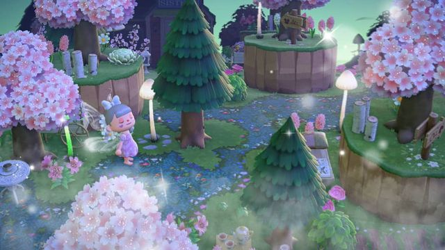 A fairy version of the popular Path in Animal Crossing: New Horizons.