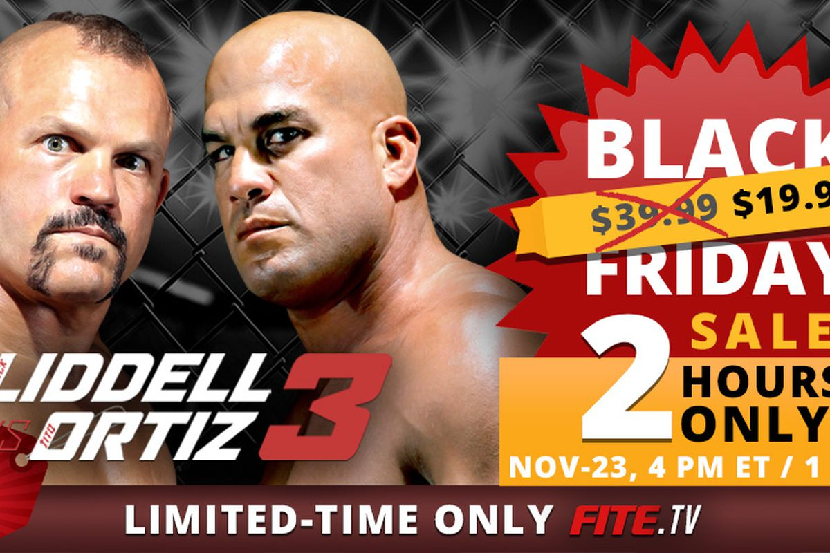 Half price! Golden Boy MMA offers Black Friday sale for 'Liddell vs Ortiz 3'