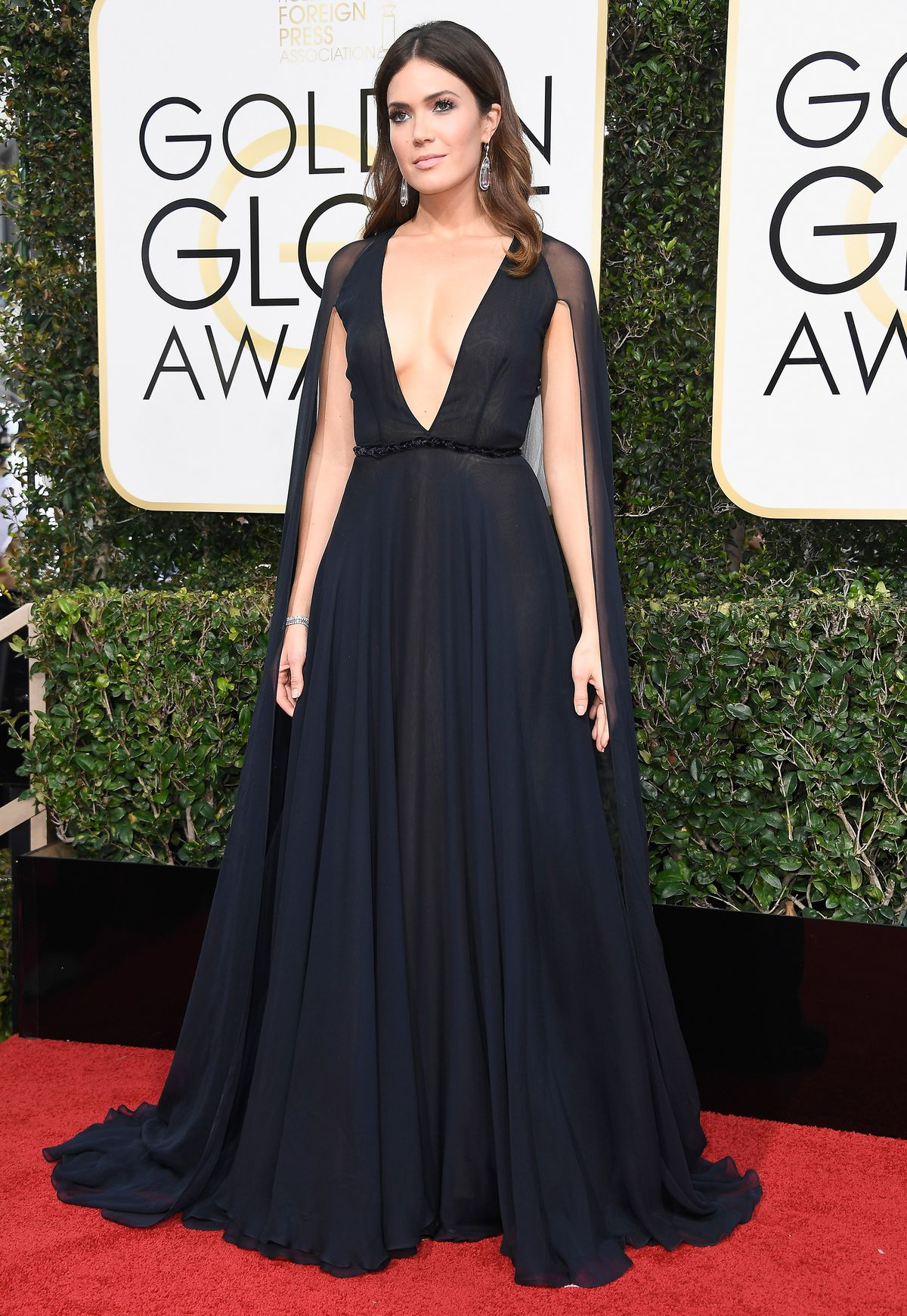 53384583df5f Mandy Moore, probably not worrying at all about a possible wardrobe  malfunction.