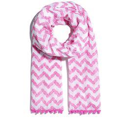 'Belladonna' pom pom scarf, $20
