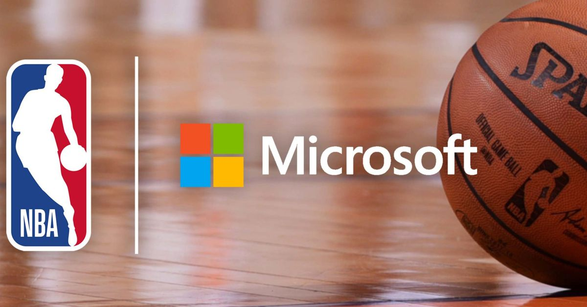 Microsoft signs multiyear deal with the NBA for Azure and Surface