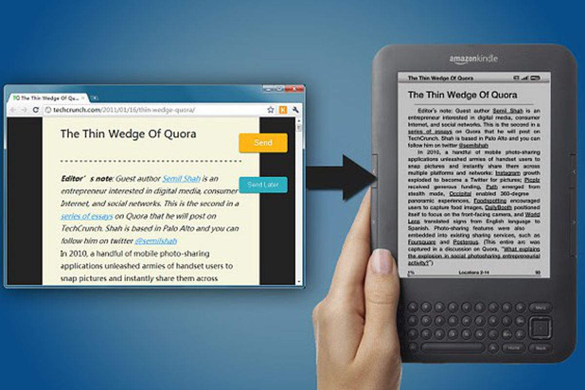 Amazon's new 'Send to Kindle' button saves stories for later