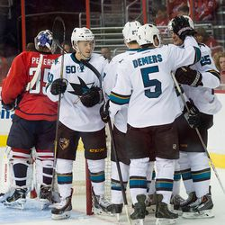 Sharks Celebrate By Peters