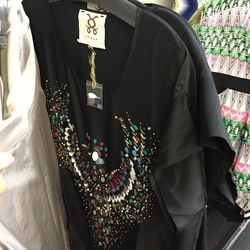 Figue embroidered dress, $50