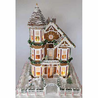 Gingerbread Victorian with a tower.