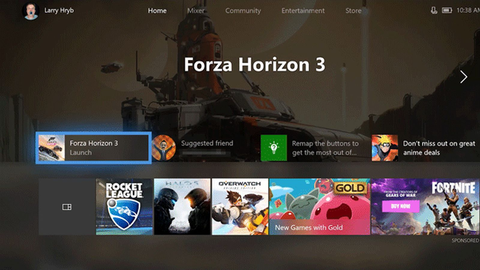 A Major New Xbox One Update Overhauls the Dashboard with Fluent Design