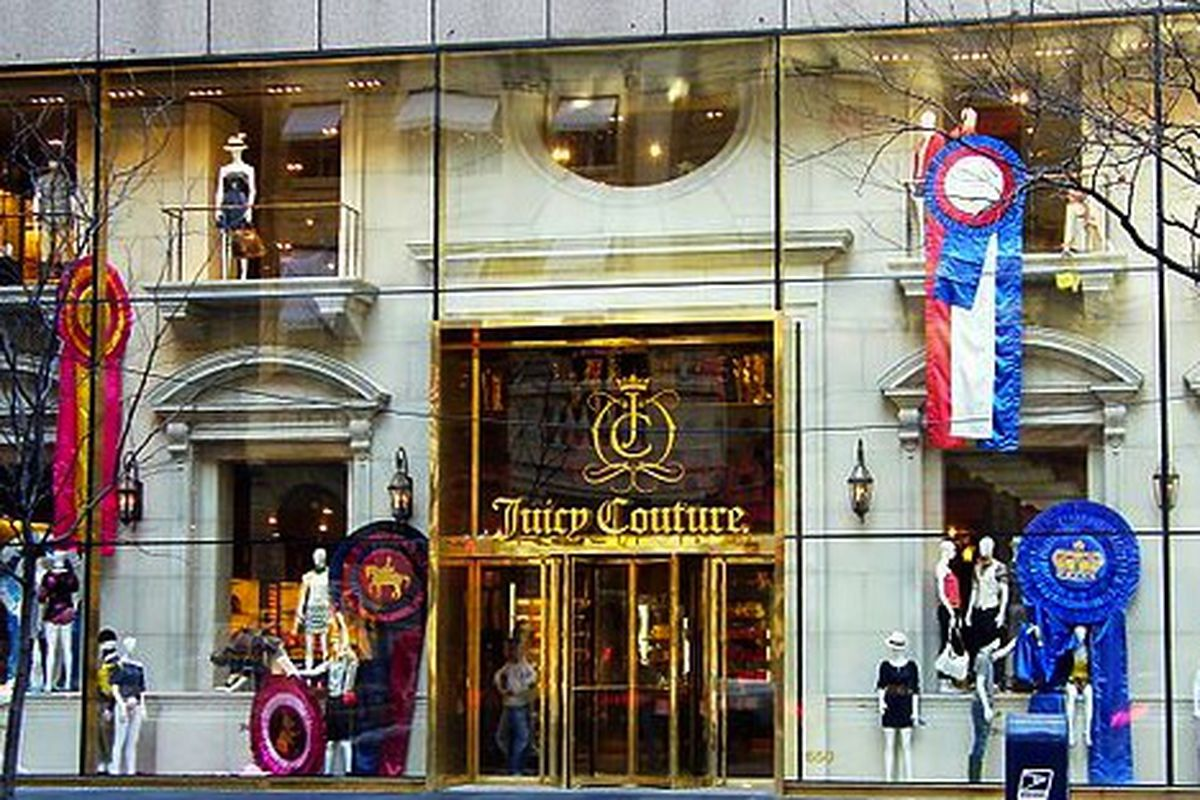 """Fifth Avenue storefront <a href=""""http://en.wikipedia.org/wiki/File:Juicy-couture-NY-STORE-2010-21-07.jpg"""">via</a>"""