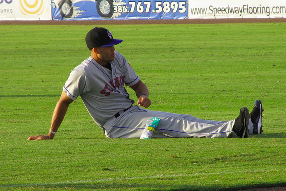 Cory Vaughn batted .267/.346/.424 for the Double-A Binghamton Mets in 2013.