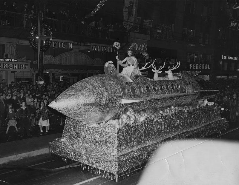 Christmas parade Hollywood
