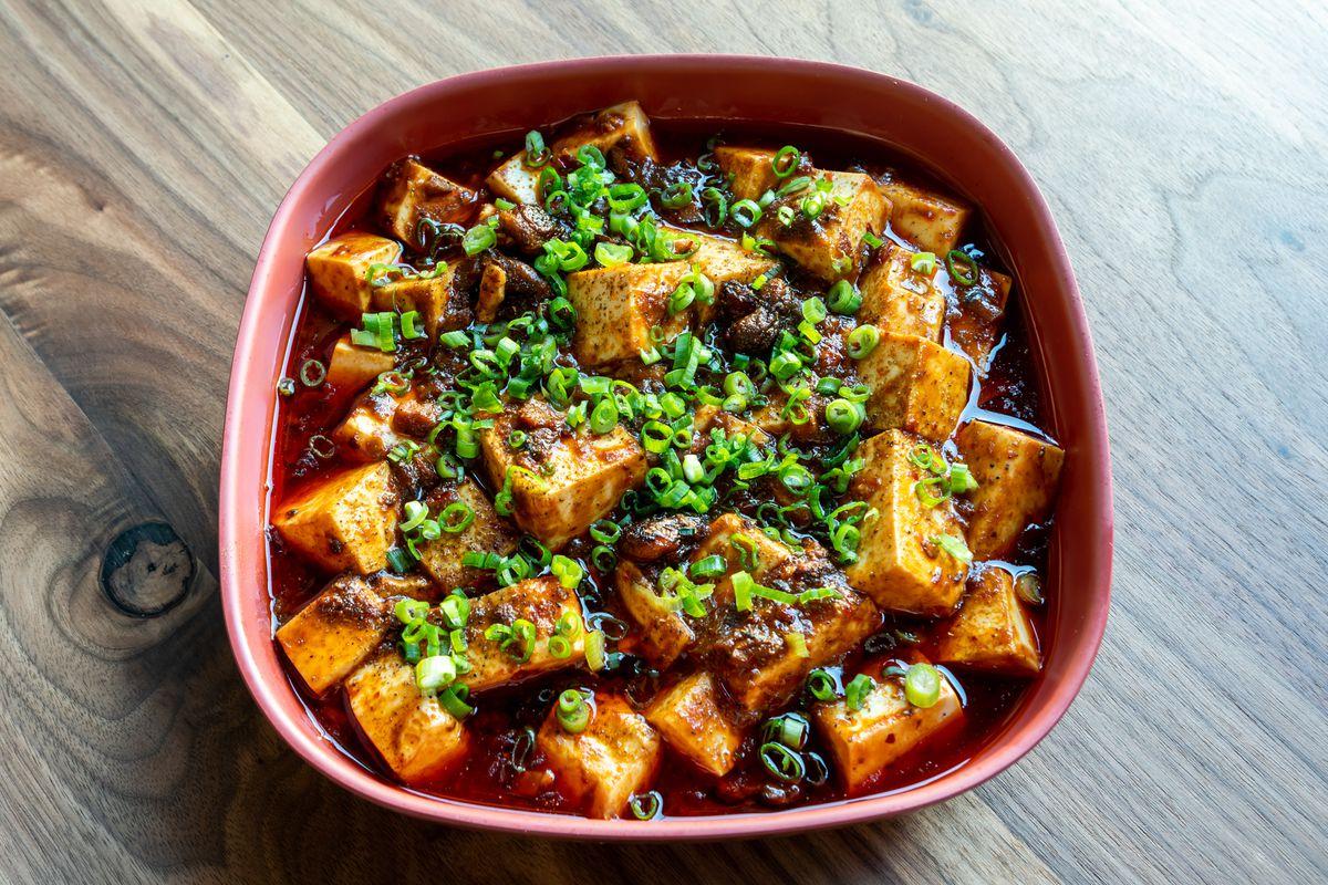 Mushroom mapo tofu at Mamahuhu
