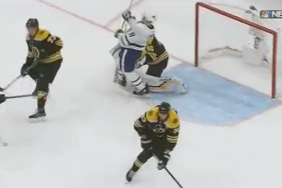 Should Toronto S First Goal Have Been Called Back For Goalie