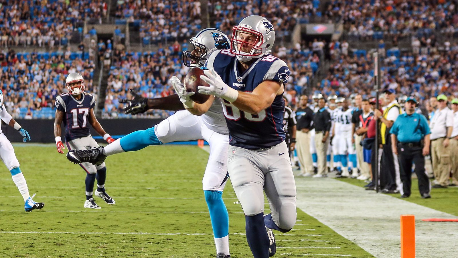 carolina panthers vs patriots score bovada/
