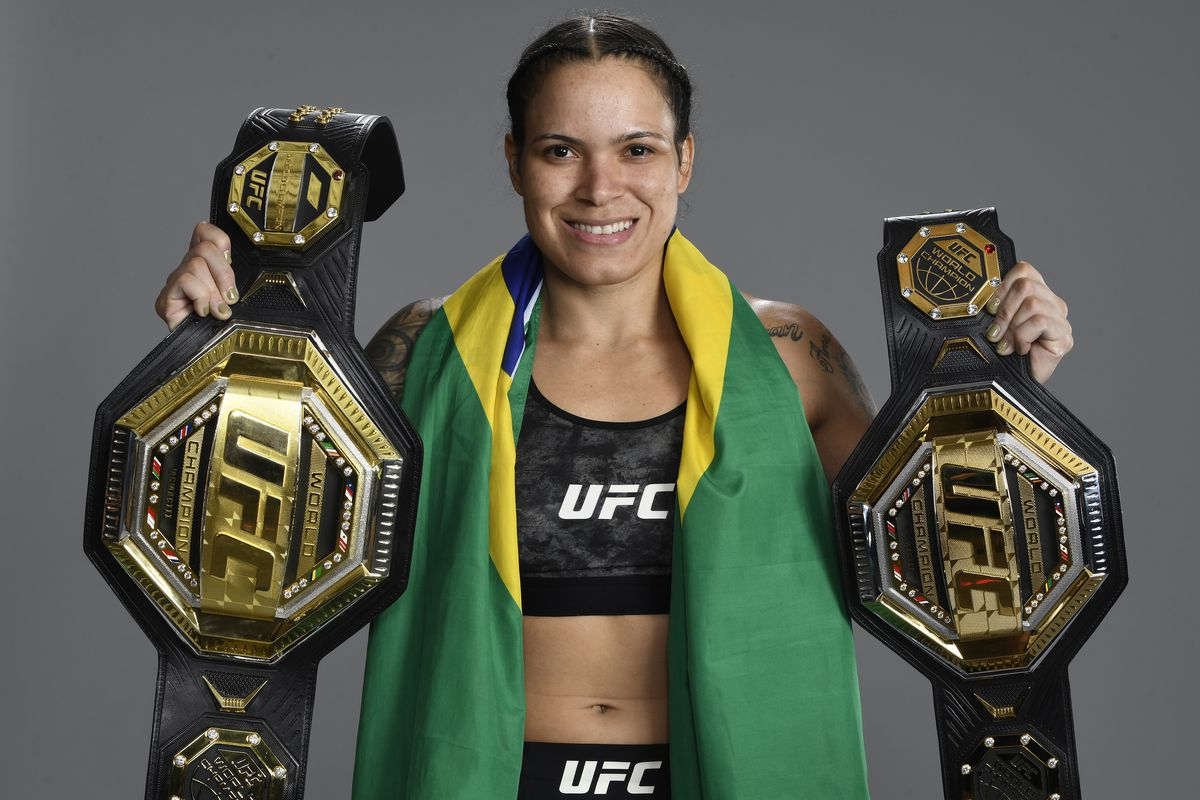 Amanda Nunes after her fight against Megan Anderson at UFC 259.