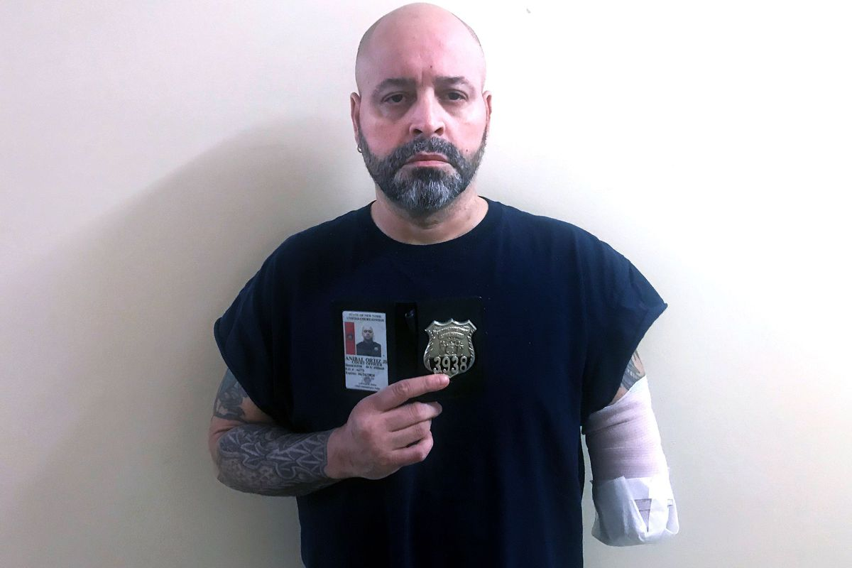 Court officer Anibal Ortiz spent 24 days in the hospital and part of his arm was amputated after he contracted COVID-19.