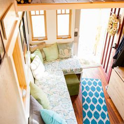 A look at the interior of Meg and Dan's tiny house.