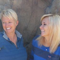 """Sheri Gallagher and her daughter, Arizona. """"Zona"""" said she enjoys hanging out with her mom, who is also her friend."""