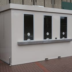 Closer view of expanded Wrigley Field Premium ticket booth on Addison