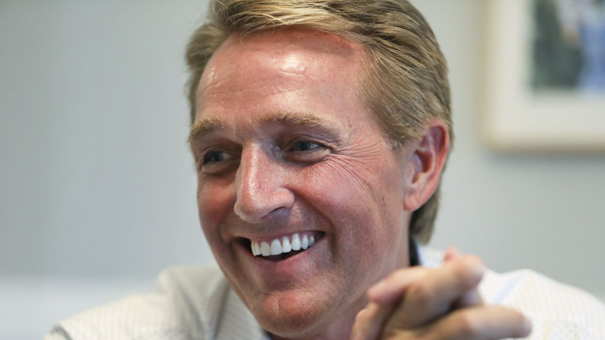 Jeff Flake says he won't vote for President Trump in 2020 election