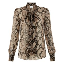 Bow Blouse in Python Print, $34.99 (Available on Net-A-Porter)