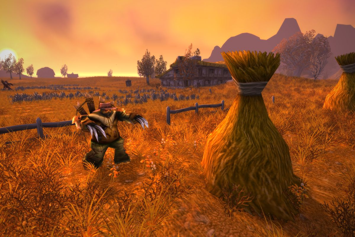 Westfall, as depicted in World of Warcraft: Classic.
