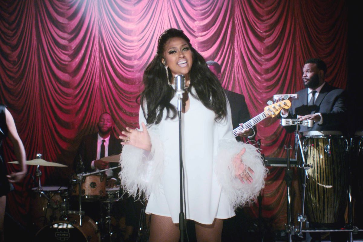 Jazmine Sullivan performs during the 2020 Soul Train Awards presented by BET.