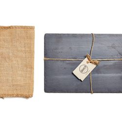 """<b>ABC Carpet & Home</b> Small Slate Cheese Board, <a href=""""http://www.abchome.com/shop/tabletop-accessories/slate-cheese-board-1290014-1290015-1290016"""">$35</a>"""