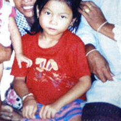 VailPeaun Laaw, 8, was born with two holes in her heart. Her medical records are in Thailand.