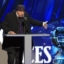 Steve Van Zandt introduces Small Faces/Faces for induction into the Rock and Roll Hall of Fame Saturday, April 14, 2012, in Cleveland.