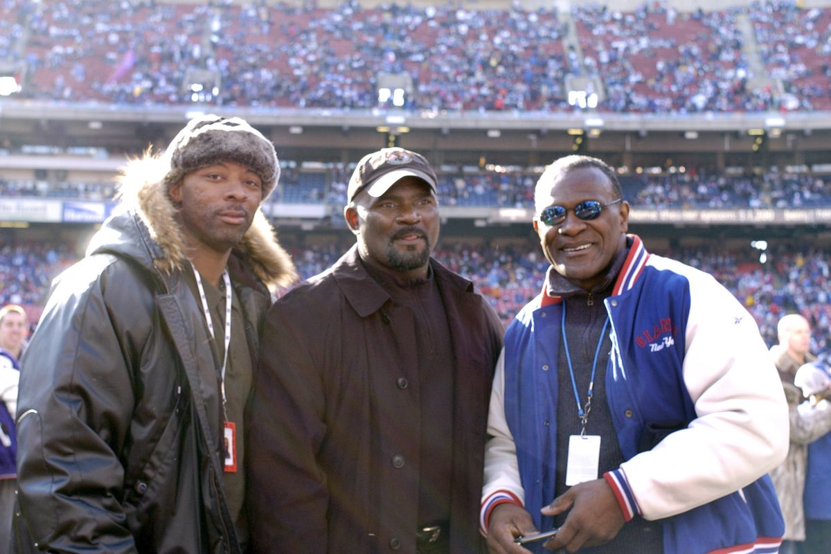 Carl Banks, Lawrence Taylor and Harry Carson in 2006
