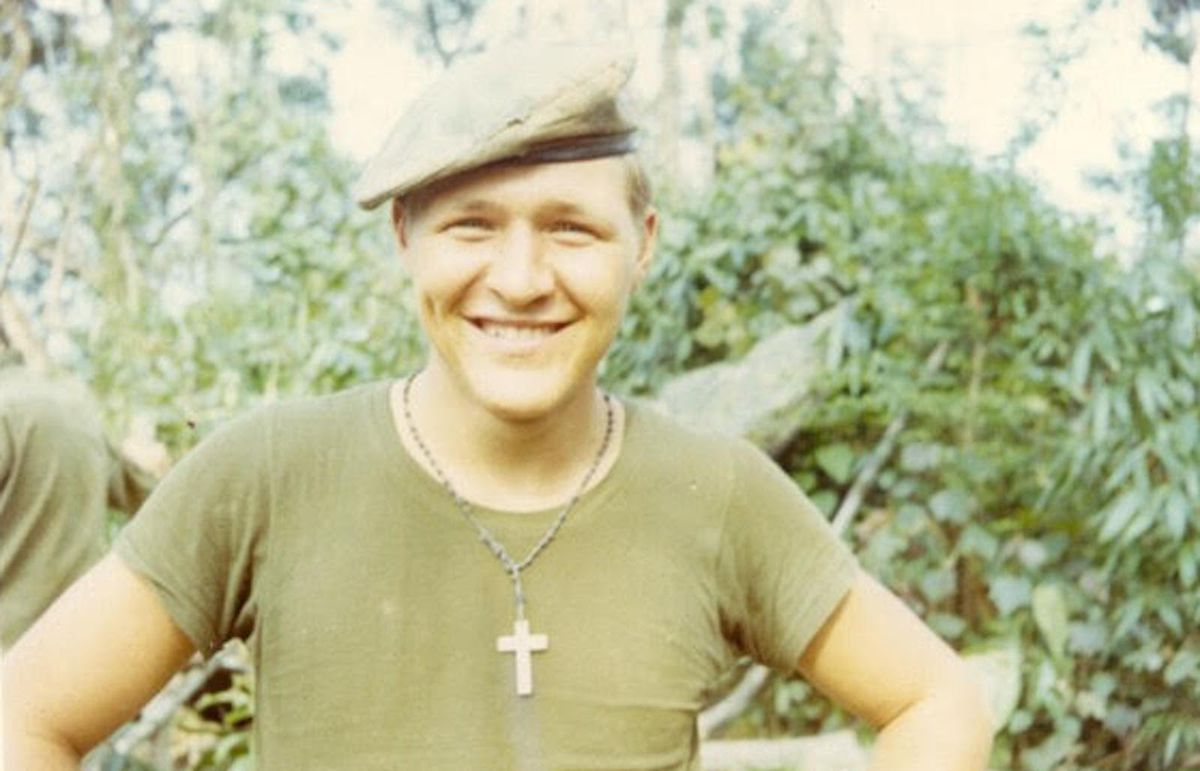 Young Jim Zwit before being badly injured in an ambush in Vietnam on April 15, 1971.